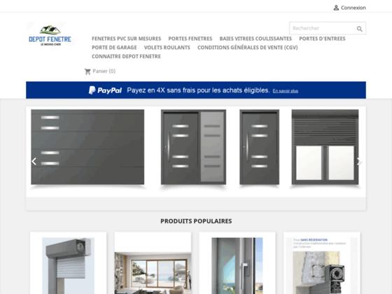Vente en ligne de menuiserie PVC et ALU (fenêtre, porte, portail...)