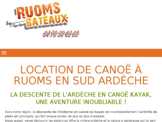 Descente de l'Ardèche, canoë à Ruoms