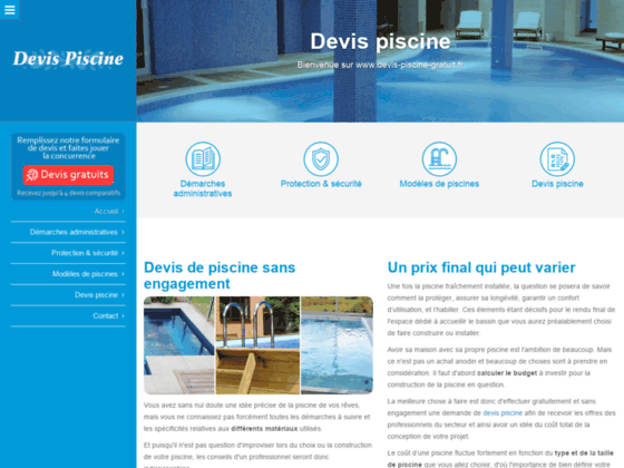 Détails : Comparer les tarifs des piscines