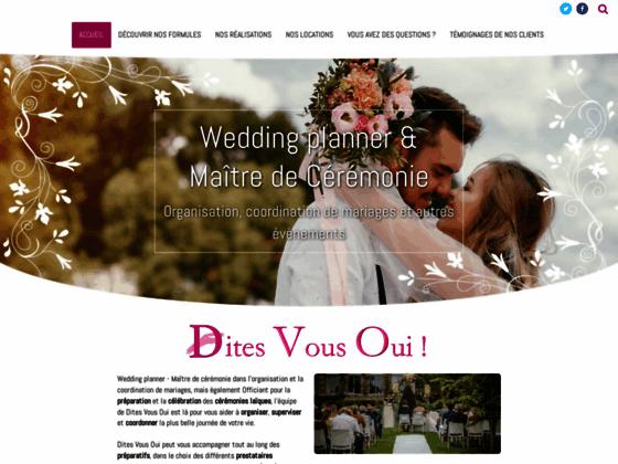 Détails : Dites Vous Oui - Wedding planner Belgique
