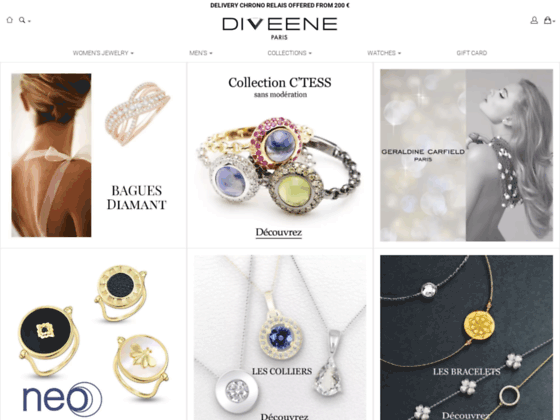 Détails : Découvrez la bijouterie en ligne Diveene