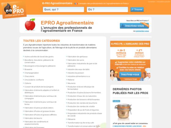Détails : Professionnels de l'agro-alimentaire