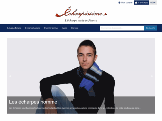 Détails : Echarpissime : écharpes et foulards made in France