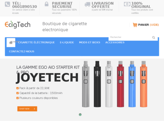 Détails : acheter cigarette electronique et mods