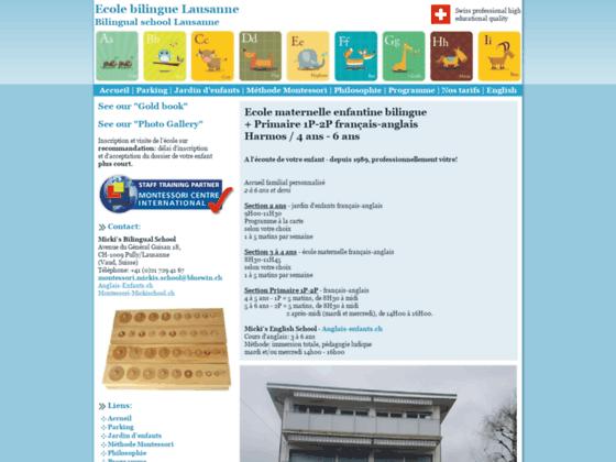 Ecole enfantine Montessori, Lausanne (Suisse)