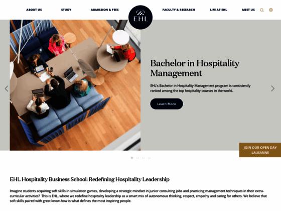 Détails : L'école d'hôtellerie de Lausanne
