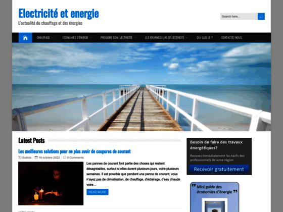 Blog sur les énergies et l'électricité