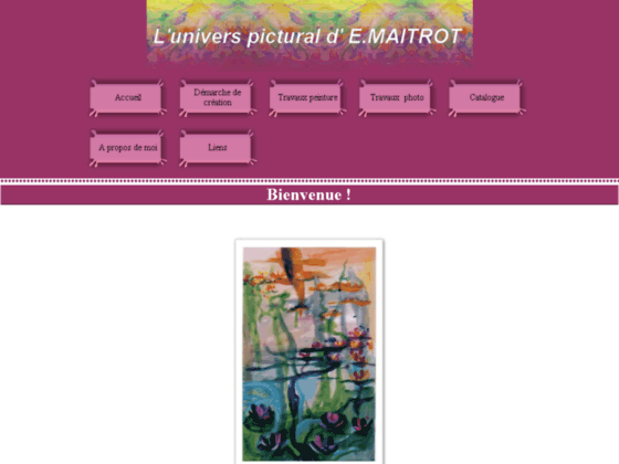 Photo image L'univers pictural d' E.Maitrot
