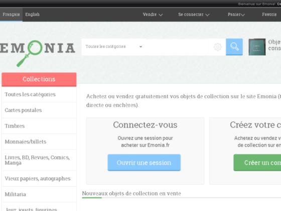Achat/vente objets de collection | Emonia.fr