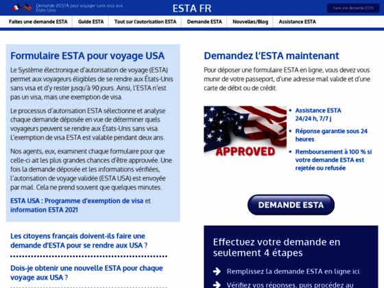 Détails : Compléter les formalités de l'Esta avec Esta.fr