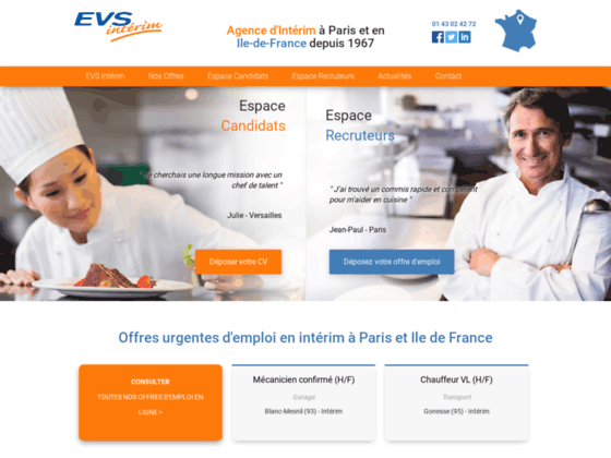 EVS Intérim : le spécialiste de l'intérim en Ile-de-France