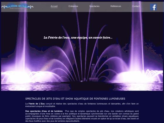 image du site http://www.feerie-de-leau.com/