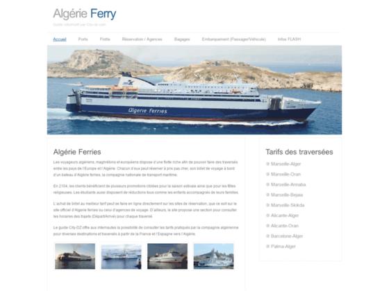 Transiter en ferry vers l'Algérie