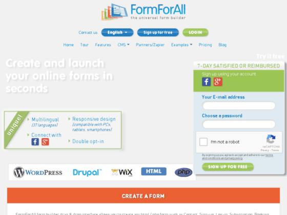 Détails : web form builder