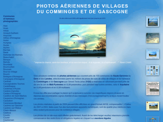 Photo image Photos aeriennes de villages du Comminges et de Gascogne