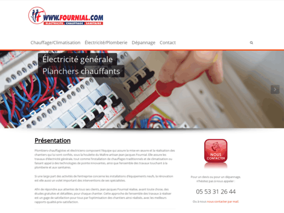 Photo image J-J-Fournial, Maitre artisan, chauffage, electricite, sanitaire.