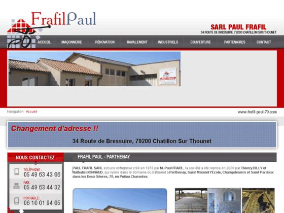 Détails : PAUL FRAFIL SARL, entreprise de maçonnerie
