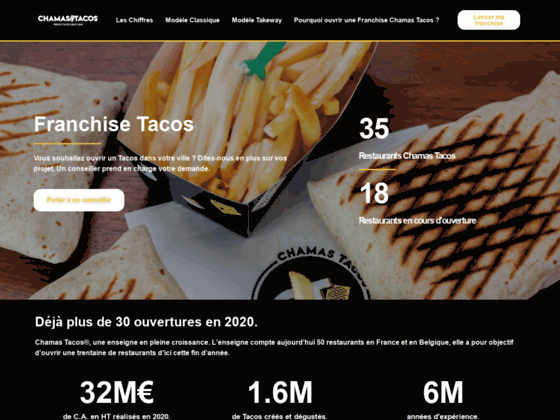 image du site https://franchise-chamas-tacos.fr/