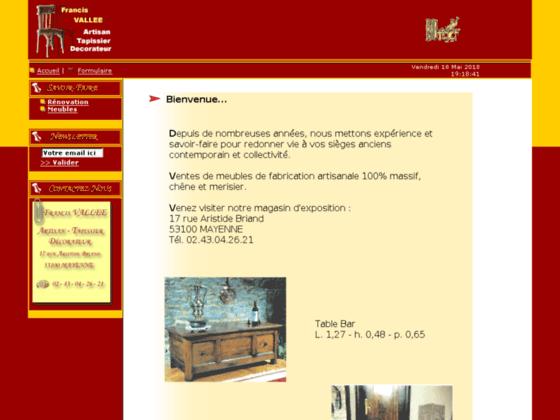 Photo image Francis VALLEE :: Artisan - Tapissier - Decorateur ::