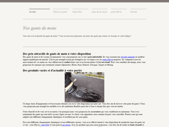 Détails : Gants de moto à prix discount