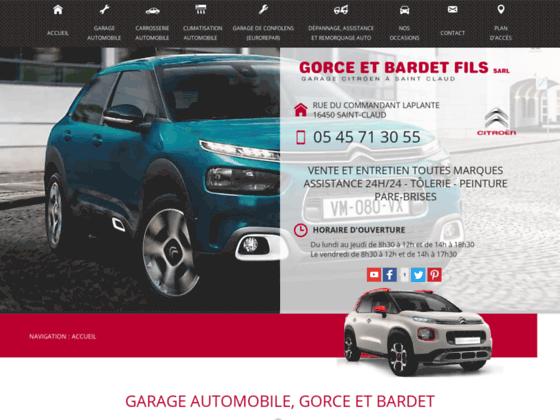 Détails : Gorce et Bardet Fils, garage automobile