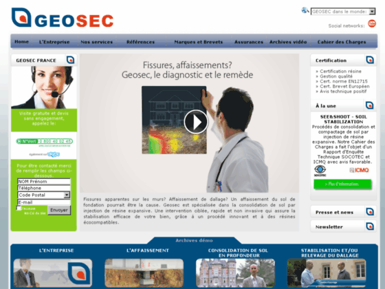 Détails : Contre les fissures sur les murs intérieurs, essayez la technologie Geosec pour la consolidation du sol