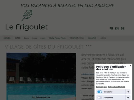 Détails : Gîte Frigoulet en Ardèche
