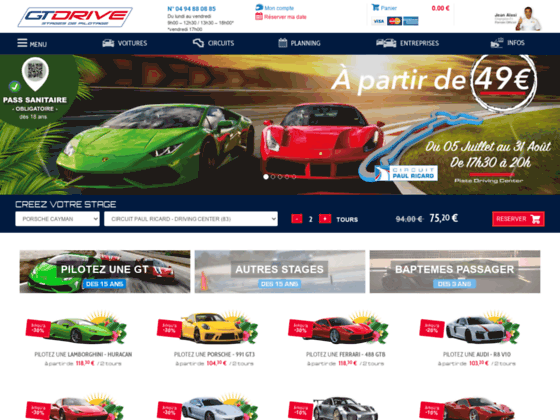 Détails : Stage de conduite sportive sur circuit : Gtdrive.com