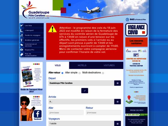 Photo image Aéroport de Guadeloupe Pointe-à-Pitre (Caraïbes) : vols départ arrivées Guadeloupe