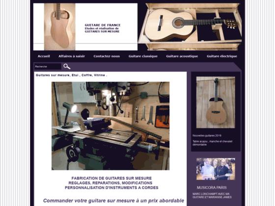Détails : Fabrication de guitare entièrement à la main