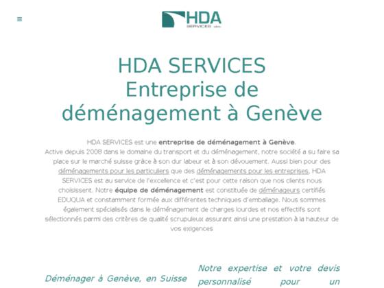 HDA Services Sarl pour déménagement en Suisse