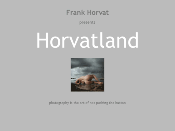 Photo image Horvat, Frank