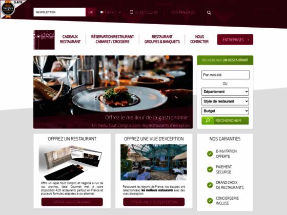 Détails : Idéal gourmet, vente de repas gastronomique