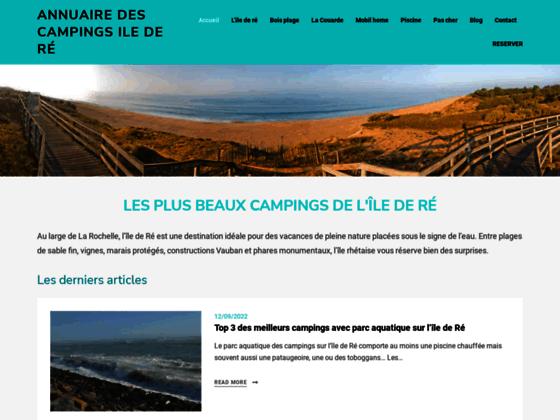 Détails : Camping Ile de Ré 4 étoiles, location mobil home piscine ile de re en camping