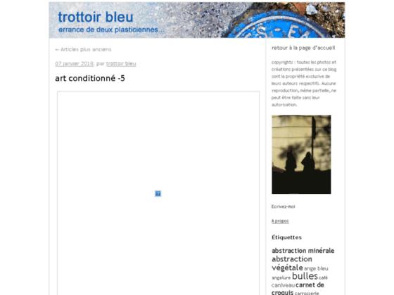 Photo image Trottoir Bleu