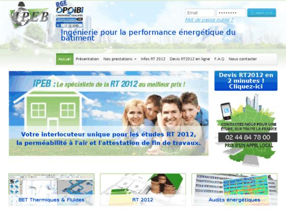 Détails : Votre etude thermique rt 2012 |ipeb