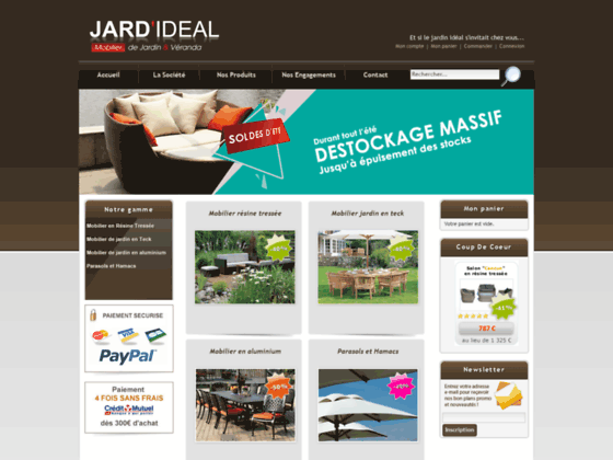 Photo image jardideal salon de jardin