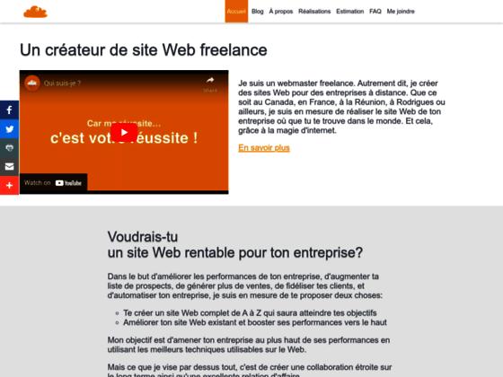 Détails : Jérémy Joron, concepteur de site Web