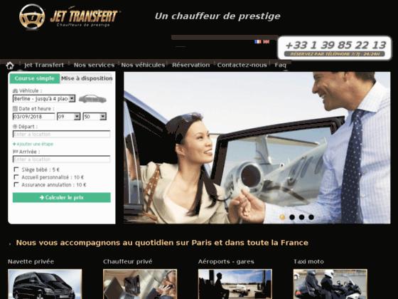 Détails : pour aller sur le site jet-transfert