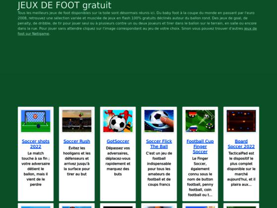 Détails : les jeux de foot