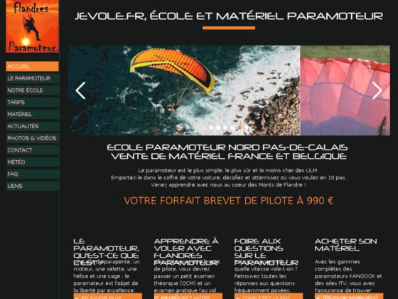 Photo image FLANDRES PARAMOTEUR - Ecole, matériel et accessoires www.jevole.fr