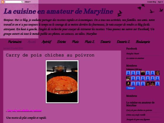 La cuisine en amateur de Maryline
