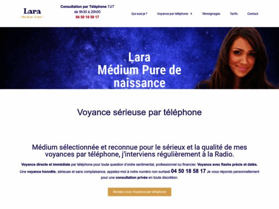 image du site http://www.lara-medium.com