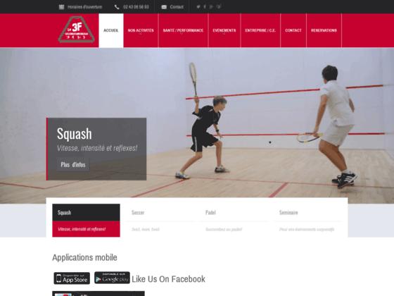 Détails : Squash à Angers - Le 3F