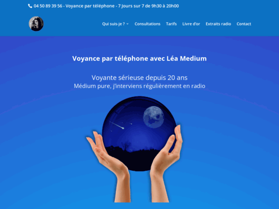 image du site http://www.lea-medium.com