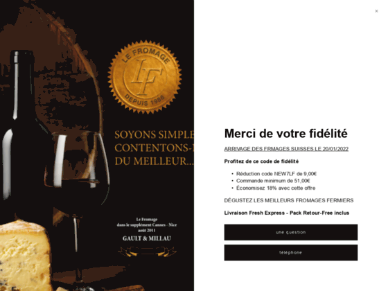 Détails : Fromagerie Lefromage.fr