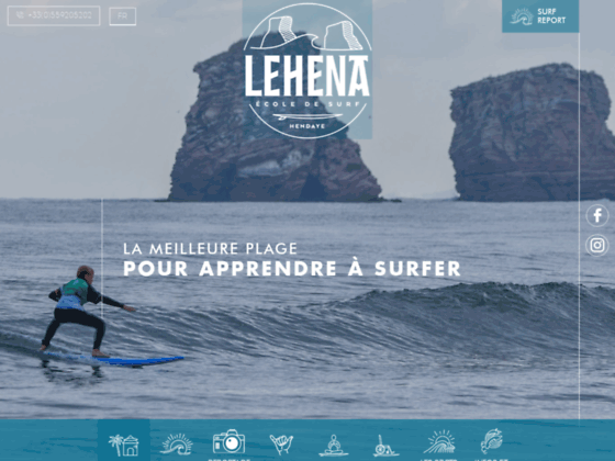 Détails : Cours de surf à Hendaye