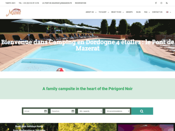 Détails : Camping Dordogne Le Pont de Mazerat 4 ****