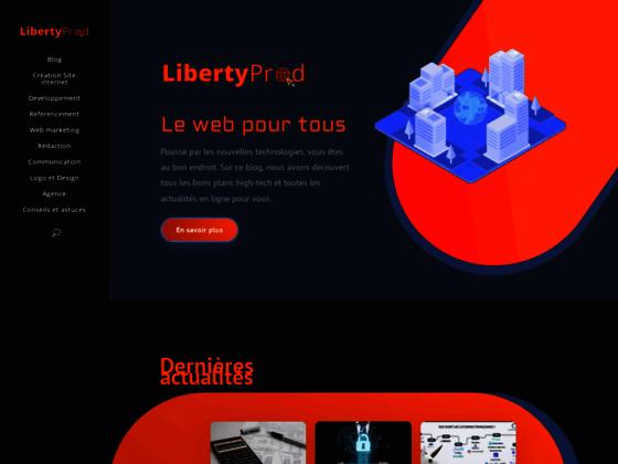 Détails : Libertyprod  international création web à Marseille