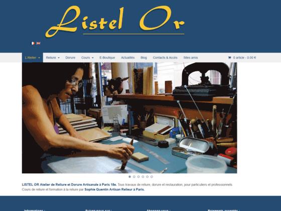 Photo image Listel Or atelier de reliure a paris et de dorure artisanales - cours de reliure